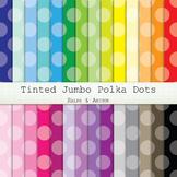 Digital Paper - Tinted Jumbo Polka Dots
