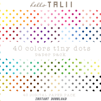 Digital Paper: Tiny Polka Dots+ Gold and Silver Dots