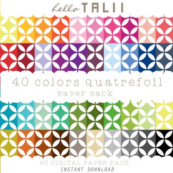 Digital Paper: Tiny Quatrefoil + Gold and Silver Quatrefoil