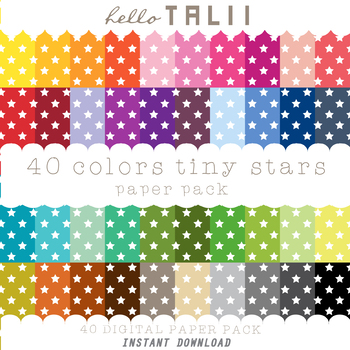 Digital Paper: Tiny Stars + Gold and Silver Stars
