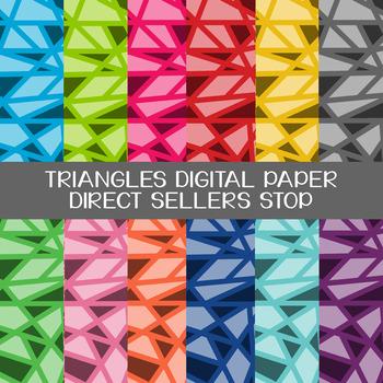 Digital Paper Triangles Background in Multi Color Clip Art