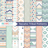 Digital Paper - Tribal Patterns / Navajo / Native American Indian