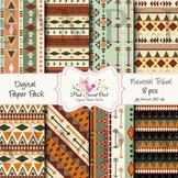 Digital Paper - Tribal paper background