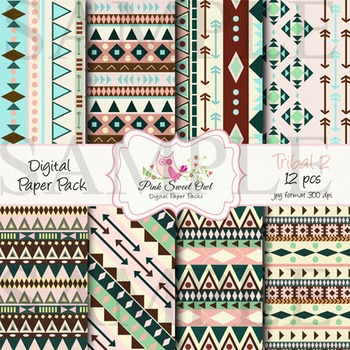 Digital Paper - Tribal paper background 2