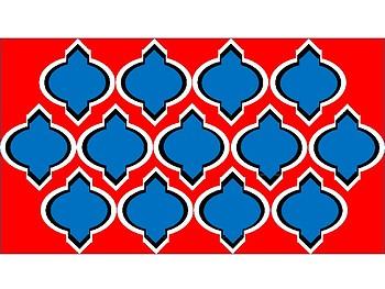 FREE Digital Paper - U. S. A. Patriotic Colors Moroccan