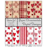 Digital Paper: Valentine Set 1