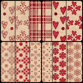Digital Paper: Valentine Set 3