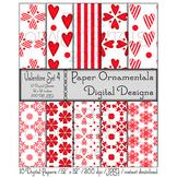 Digital Paper: Valentine Set 4