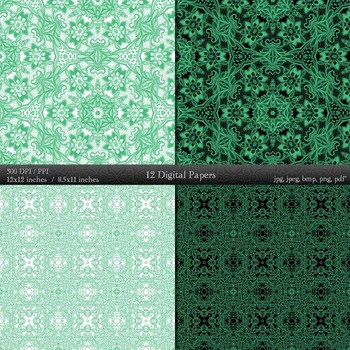 Digital Paper Variety Henna Journal Mandala Pack Texture Lace  Decoration Style