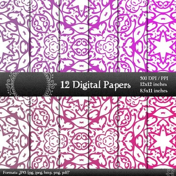 Digital Paper Variety Retro Journal Layout Pack Cover Digi