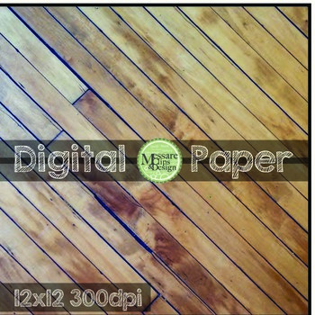 Digital Paper Various Wooden Textures and Backgrounds {Messare Clips and Design}