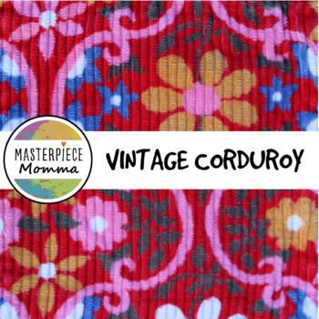 Digital Paper- Vintage Corduroy