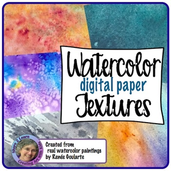 Digital Paper Watercolor Backgrounds Textures