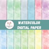Digital Paper Set - Watercolor