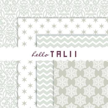 Digital Paper: White Christmas Paper Pack