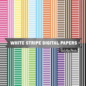 Digital Paper - White Stripe