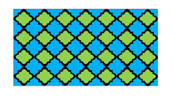 Digital Paper - Wide Moroccan & Quatrefoils - Spring Colors