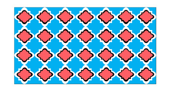 Digital Paper - Wide Moroccan & Quatrefoils - Easter Colors