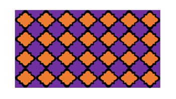 Digital Paper - Wide Moroccan & Quatrefoils - Fall Colors