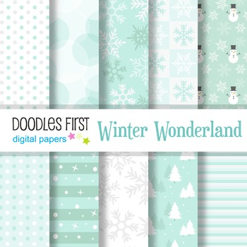 Digital Paper - Winter Wonderland great for Classroom art projects