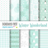Digital Paper - Winter Wonderland great for Classroom art