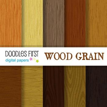 Digital Paper - Wood Grain great for Classroom art projects
