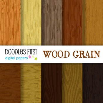 Digital Paper - Wood Grain great for Classroom art projects