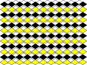 Digital Paper - Yellow Diamonds