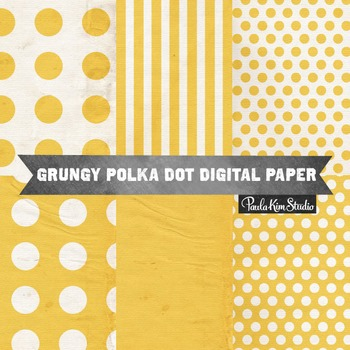 Digital Paper - Yellow Grungy Backgrounds