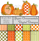 Digital Paper and Clip Art:  Pumpkin Patch