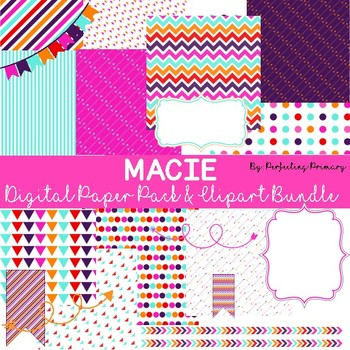 Digital Paper and Clipart Bundle Pack