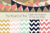 Digital Paper and Clipart - Rustic Colors - Free for Perso