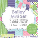 Digital Paper and Frame Bailey Mini Set