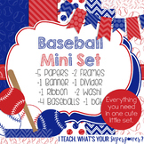 Digital Paper and Frame Baseball Mini Set
