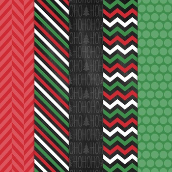 Digital Paper and Frame Christmas Mini Set Clara