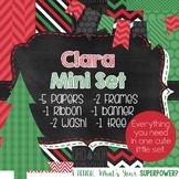 Digital Paper and Frame Christmas Mini Set Clara