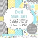 Digital Paper and Frame Dell Mini Set