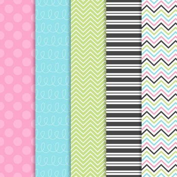 Digital Paper and Frame Mia Set