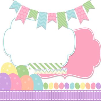 Digital Paper and Frame Easter Egg Mini Set