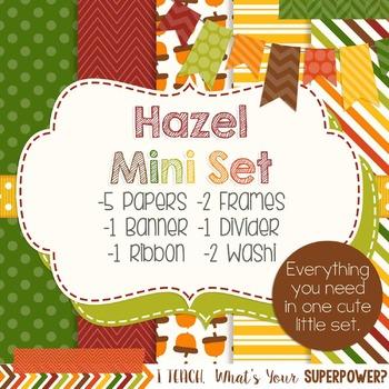 Digital Paper and Frame Hazel Mini Set