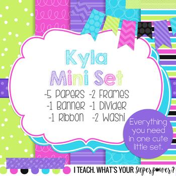 Digital Paper and Frame Kyla Mini Set