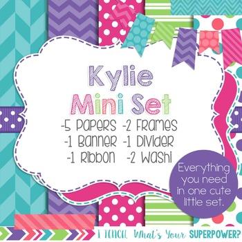 Digital Paper and Frame Kylie Mini Set