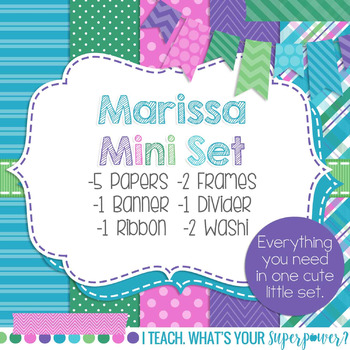 Digital Paper and Frame Marissa Mini Set