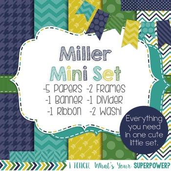 Digital Paper and Frame Miller Mini Set