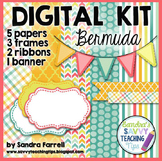 Digital Paper and Frame Mini Kit  BERMUDA