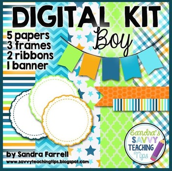 Digital Paper and Frame Mini Kit BOY