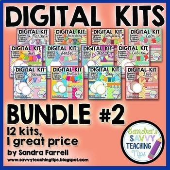 Digital Paper and Frame Mini Kit BUNDLE 2