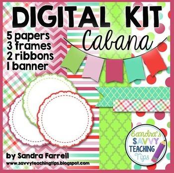 Digital Paper and Frame Mini Kit CABANA