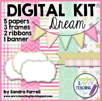 Digital Paper and Frame Mini Kit DREAM