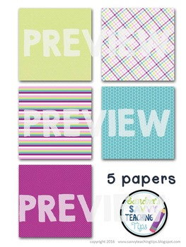 Digital Paper and Frame Mini Kit FLORAL